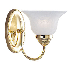 Edgemont Polished Brass One-Light Bath Fixture