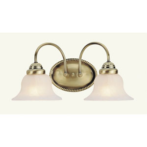 Edgemont Two-Light Antique Brass Bath Fixture