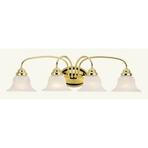 Edgemont Four-Light Polished Brass Bath Fixture