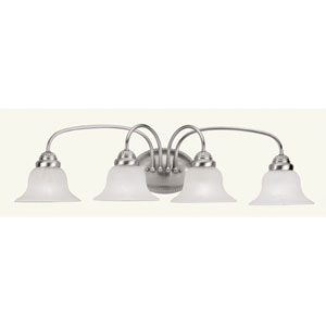 Edgemont Four-Light Brushed Nickel Bath Fixture