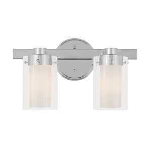 Manhattan Chrome Two-Light Bath Fixture