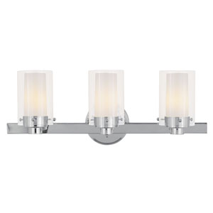 Manhattan Chrome Three-Light Bath Fixture