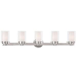 Manhattan Chrome 35.5-Inch Five-Light Bath Light