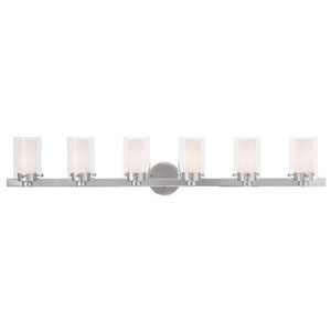 Manhattan Chrome 47.5-Inch Six-Light Bath Light