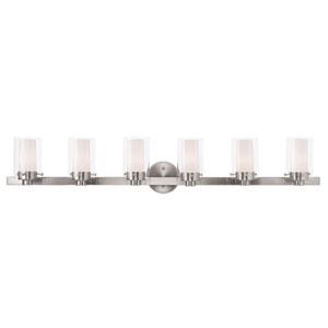 Manhattan Brushed Nickel 47.5-Inch Six-Light Bath Light