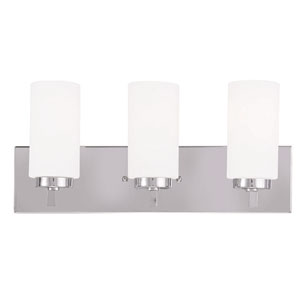 West Lake Chrome 18-Inch Three-Light Bath Light