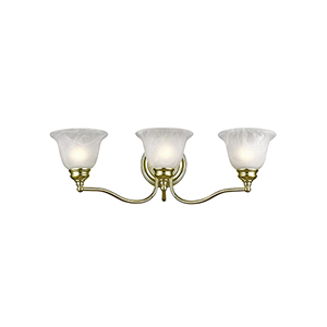 Essex Polished Brass 24-Inch Three-Light Bath Light