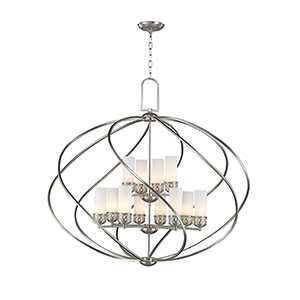 Westfield Brushed Nickel 42-Inch Twelve-Light Pendant