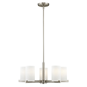 Astoria Brushed Nickel 25-Inch Five-Light Chandelier