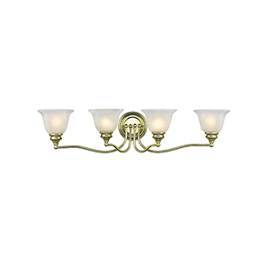 Essex Polished Brass 32-Inch Four-Light Bath Light