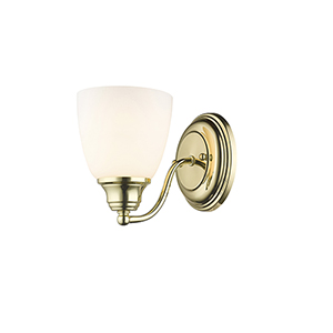 Somerville Polished Brass 5.5-Inch One-Light Bath Sconce