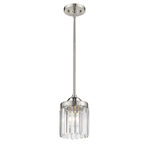 Ashton Brushed Nickel 6.5-Inch One-Light Mini Pendant