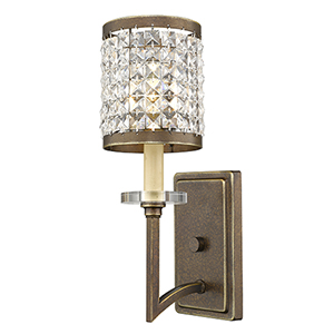 Grammercy Hand Painted Palacial Bronze 5-Inch One-Light Bath Sconce