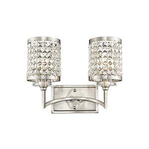 Grammercy Brushed Nickel 14.5-Inch Two-Light Bath Light