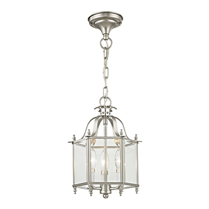 Home Basics Brushed Nickel Convertible Pendant