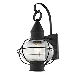 Newburyport Black One-Light 12-Inch Wall Lantern