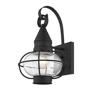 Newburyport Black One-Light 9-Inch Wall Lantern