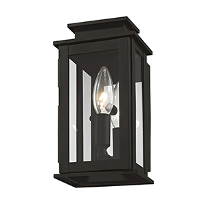 Princeton Black One-Light 5-Inch Wall Lantern
