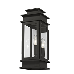 Princeton Black One-Light 14-Inch Wall Lantern