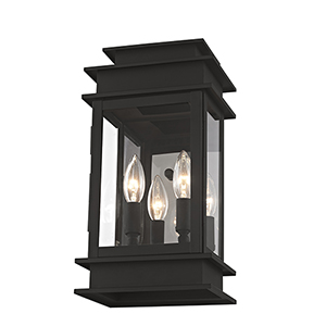 Princeton Black Two-Light 7.5-Inch Wall Lantern