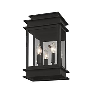 Princeton Black Two-Light 15-Inch Wall Lantern
