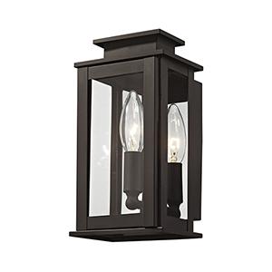 Princeton Bronze One-Light 5-Inch Wall Lantern