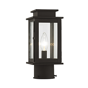 Princeton Bronze One-Light 5-Inch Post Lantern