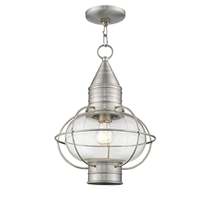 Newburyport Brushed Nickel One-Light 12-Inch Lantern