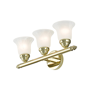 Neptune Polished Brass Three-Light 19-Inch Bath Vanity