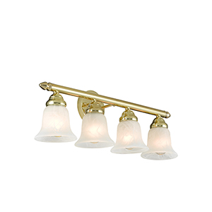 Neptune Polished Brass Four-Light 24-Inch Bath Vanity