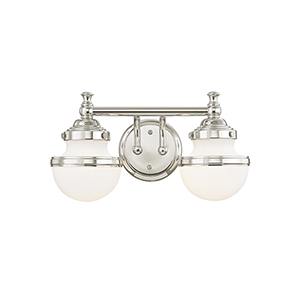 Oldwick Polished Chrome Two-Light 15-Inch Bath Vanity