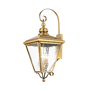 Cambridge Antique Brass 14-Inch Four-Light Outdoor Wall Lantern