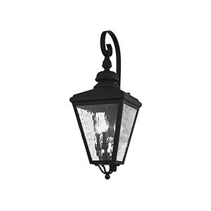 Cambridge Black 11-Inch Three-Light Outdoor Wall Lantern