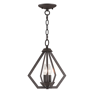 Prism Bronze Two-Light Convertible Pendant Ceiling Mount
