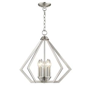 Prism Brushed Nickel Five-Light Pendant
