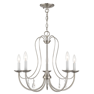 Mirabella Brushed Nickel Five-Light Chandelier