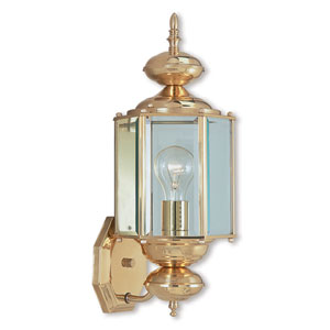 Outdoor Basics Polished Brass 7-Inch One-Light Outdoor Wall Lantern