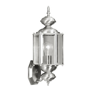 Outdoor Basics Brushed Nickel Outdoor Wall Lantern