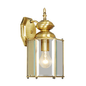 Outdoor Basics Antique Brass Outdoor Wall Lantern