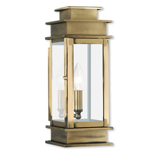 Princeton Antique Brass One-Light 14-Inch Wall Lantern