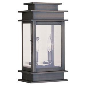 Princeton Vintage Pewter Two-Light 14-Inch Outdoor Wall Lantern