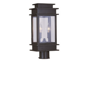 Princeton Bronze Two-Light 17-Inch Outdoor Post Mount
