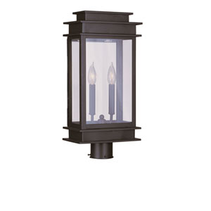 Princeton Bronze Two-Light 20.5-Inch Outdoor Post Mount
