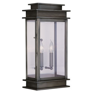 Princeton Vintage Pewter Two-Light 22-Inch Outdoor Wall Lantern