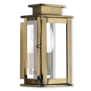 Princeton Antique Brass One-Light 5-Inch Wall Lantern