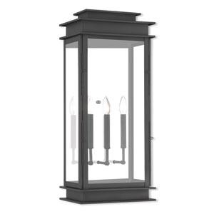 Princeton Black Three-Light 28.5-Inch Wall Lantern