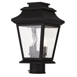 Hathaway Black 8-Inch Two-Light Outdoor Post Lantern