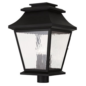 Hathaway Black 14-Inch Four-Light Outdoor Post Lantern