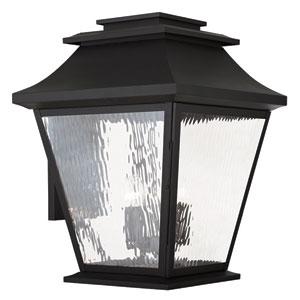 Hathaway Black 18-Inch Five-Light Outdoor Wall Lantern