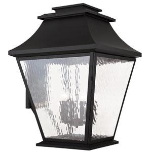 Hathaway Black 21-Inch Six-Light Outdoor Wall Lantern